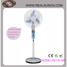 Ventilador recargable doble de la CC de la CA 16inch con la lámpara del LED (RS12V16H)