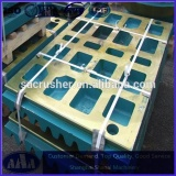 High manganese steel casting stone crusher spare part jaw crusher tooth plate