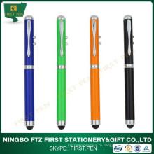 Ультрафиолетовая металлическая ручка с лазерной указкой
