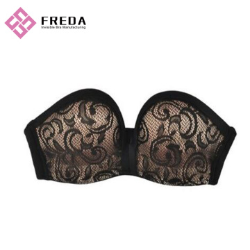 Penuh Piala Black Lace Body Strapless Bra