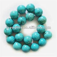 20MM DIY redondo turquesa semipreciosa perlas de piedra