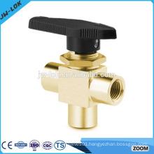 3 piece high pressure 90 degree brass ball valve