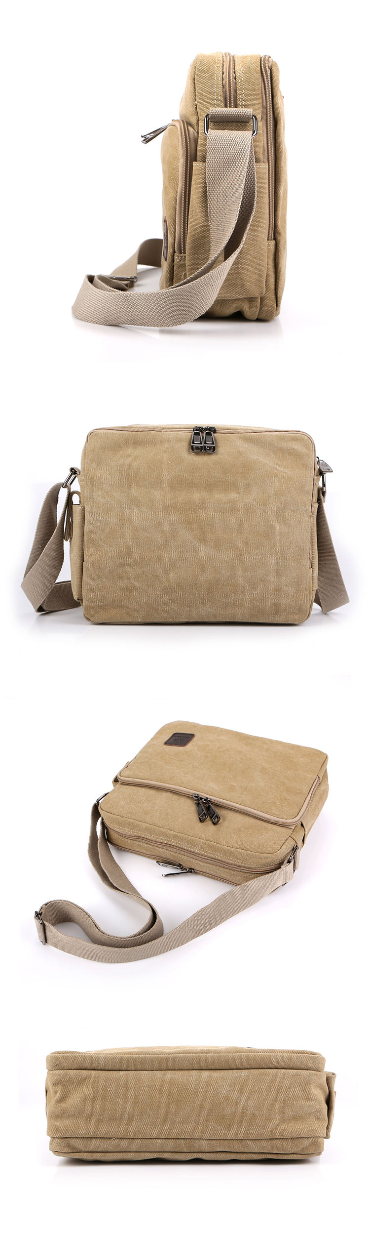 Multi Pocket Vintage Male Messenger Shoulder Crossbody Bags