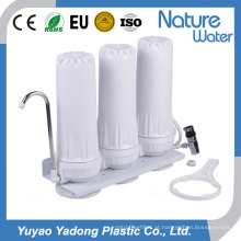 Sistema residencial do filtro de água da parte superior contrária de 3 fases