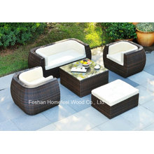 Relaxing Outdoor Furniture 5 Pieces Garden Wicker Sofa Set
