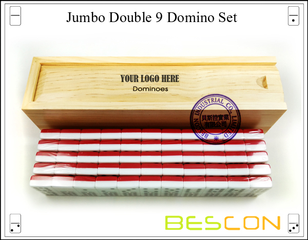 Jumbo Double 9 Domino Set-5