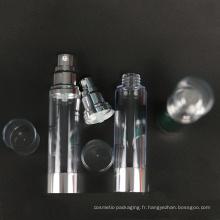 Bouteille de pompe airless en plastique faite sur commande de luxe fournie par échantillon libre pour des soins de la peau (NAB25)