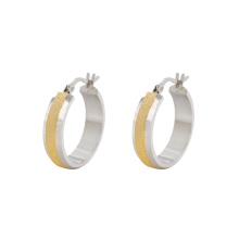 E-639 Xuping moda diseños simples joyas de oro pendientes de clip de bali para niñas