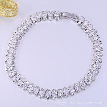 Новый белый золото ремесла с Рождеством браслеты подарок