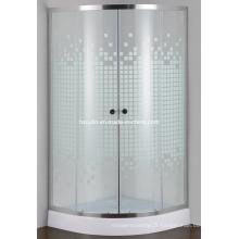 Salle de douche simple en verre peint (E-01P)