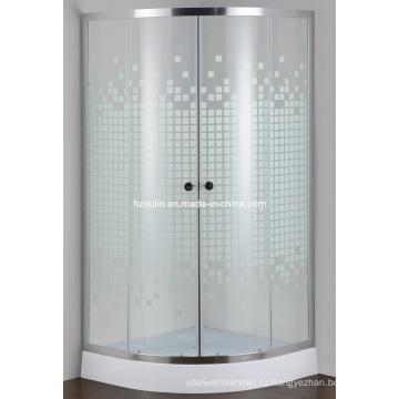 Окрашенная стеклянная простая душевая комната (E-01P)
