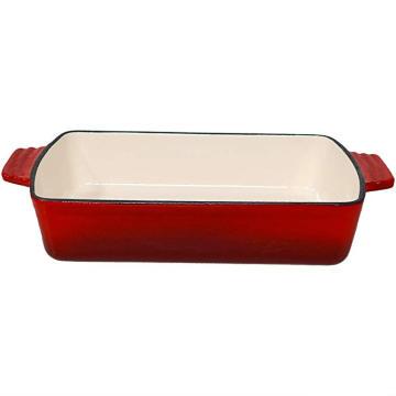 Panela de lasanha de assar prato profundo de ferro fundido esmaltado