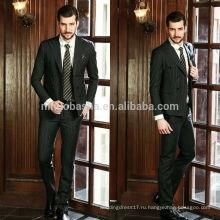 Приветствуются полосатые красавцы мужчины Свадебные костюмы фотографии Топ Бренд 2014 двухрядные пуговицы пальто брюки дизайн для делового костюма NB0565