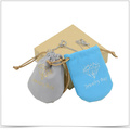 Customized Microfiber Both-Side Drawstring Jewelry Pouch