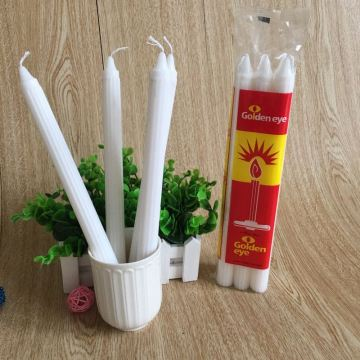 Putih Votive Paraffin Wax Plain Fluted Lilin
