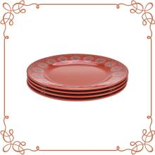 9 Inch Melamine Round Plates Set of 4