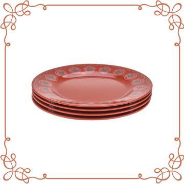 9 Inch Melamine Round Plate Set of 4