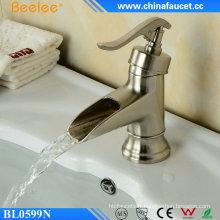 Robinet lavabo nickel brossé Ek Chrome pour salle de bain