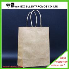 Kundenspezifisches Logo Natural Kraft Einkaufstasche (EP-FP55514B)