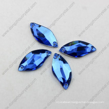 China Wholesale High Refraction Lead Free Machine Cut Decorative Flat-Back Loose Sew on Crystal for Wedding Dress
