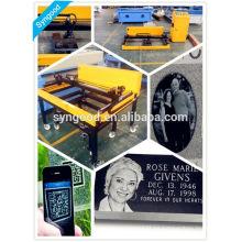 Máquina de grabado y corte de láser Syngood SG6090-especial para lápida de ángel de granito negro