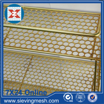 Mesh Logam Perforated Brass
