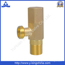 Brass Hexagon Angle Valve with Brass Handle (YD-5020)
