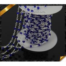 Blaues Glas Perlen Charms Kette Zubehör für Halskette DIY Schmuck Making (JD008)