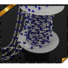 Blue Glass Beaded Charms Chain Accessories for Necklace DIY Jewelry Making (JD008)