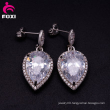 Cubic Zirconia Single Stone Woman Daily Wear Earring Designs