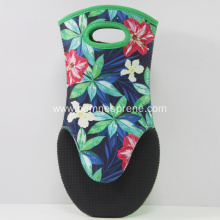 Newly Flower Pattern Beautiful Neoprene Oven Mitts
