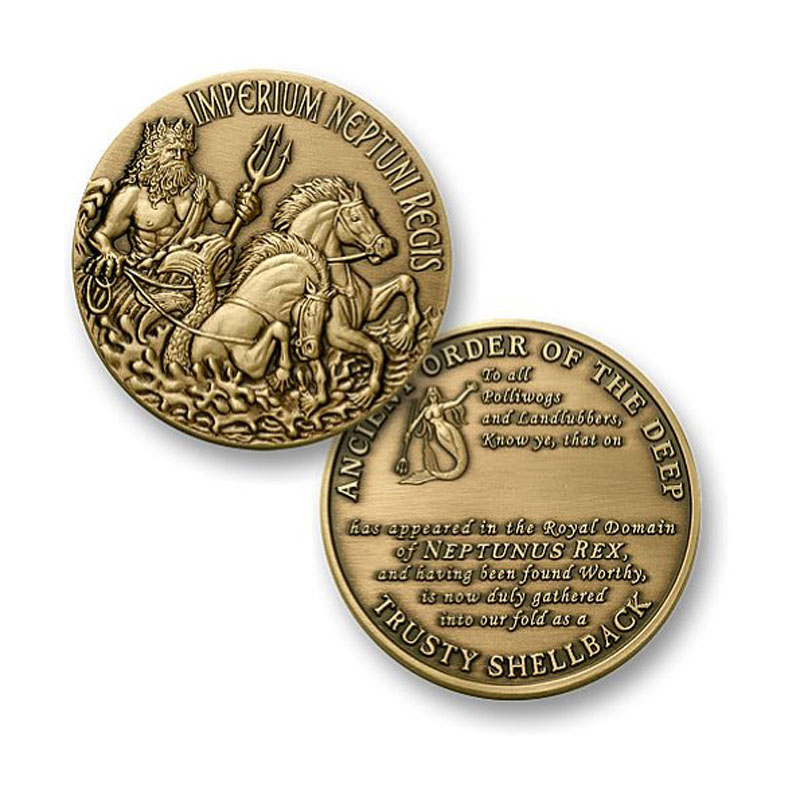 The Honors Trusty Shellback Challenge Coin