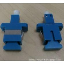 Sc-LC Simplex Plastic Blue Hybrid Fiber Optical Adapter
