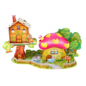 3D Mushroom House Puzzle
