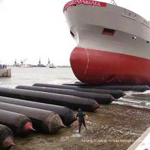 Airbag de lancement de levage de bateau en caoutchouc gonflable de cerfs communs