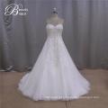 Bordados moda vestidos de casamento perfeito da amostra