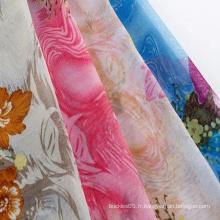 Tissu en mousseline imprimé lucency élégant et sans plis