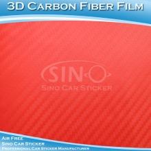 Yüksek polimer araba 3D Carbon Fiber Film vinil sarma