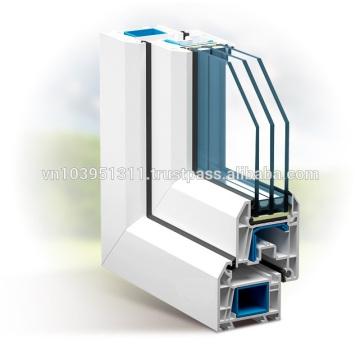Plastic door for high building uPVC Profile door window
