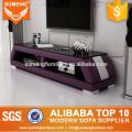 moda china nuevo modelo púrpura blanco tv soporte de cristal a la venta