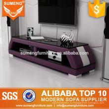 китайский мода новая модель фиолетовый белый телевизор стенд стекло на продажу