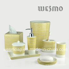 Bambootexture Porcelain Bathroom Set (WBC0712A)