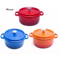 Enamel cookware mini cast iron casserole