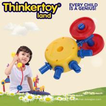Brinquedos educativos do bloco de apartamentos para 3-6 crianças