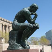 Мужчина бронзовая скульптура металла мыслитель статуя вла-BS1027