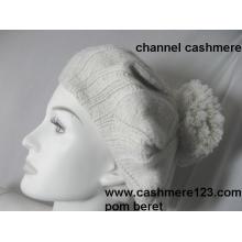 Chapéu de boina de cashmere POM Ty0917