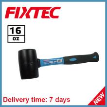 Fixtec Hand Tools 16oz Rubber Hammer with Fiberglass Handle