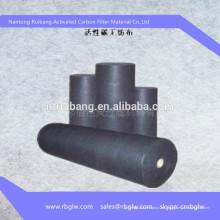 rollo de tela de fibra de carbono activada con fibra de poliéster