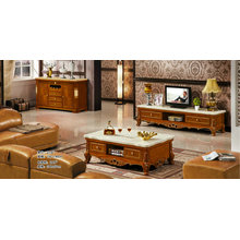 Brown Color Coffee Table, TV Stand, Europe Furniture (219)