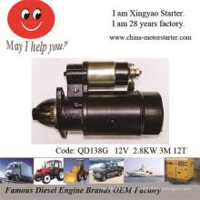 Двигатель стартера 2.8kw 12V для дизельного двигателя S1110 (QD138G)